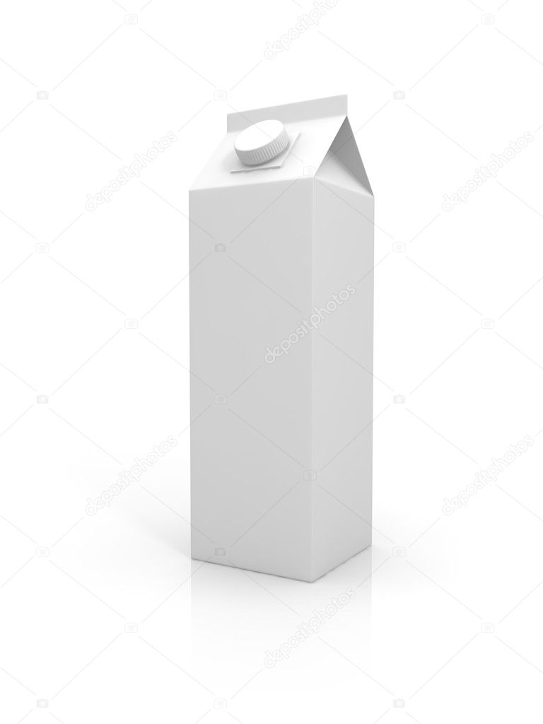 Blank milk package isolated on white background — Stock Photo #11169873