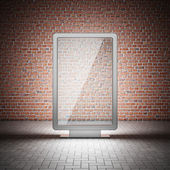 Blank street advertising billboard — Stock Photo
