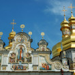 Domes of Kiev Pechersk Lavra Orthodox monastery , Ukraine — Stock Photo