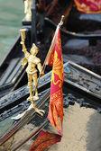 Gondola decorazione, venezia, italia — Foto Stock