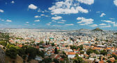 Panorama of Athens megalopolis from Acropolis hill,Greece — Stock Photo