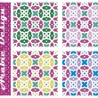 Collection of seamless arabic floral vector ornaments - girih — Stock Vector
