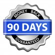 Money back guarantee label — Stok Vektör #10772966