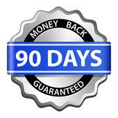 Money back guarantee label — Stock Vector