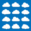White clouds on blue sky — Vector de stock #10820367