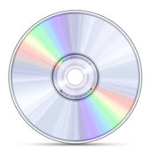 Disco blue-ray, dvd o cd — Vector de stock