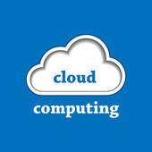 Cloud computing logo template — Stock Vector