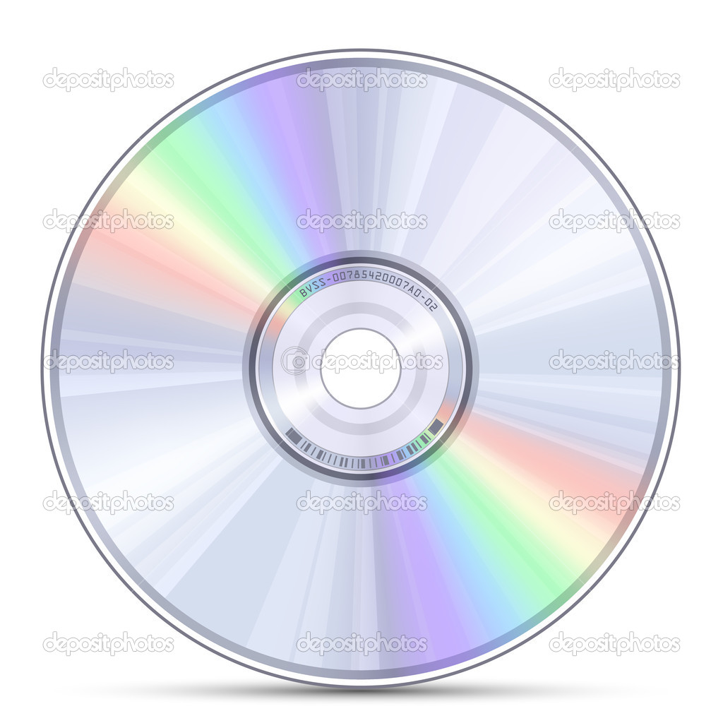 Blue-ray, DVD or CD disc. Vector illustration  Stock Vector #10830029