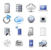 Gran colección de iconos de la computación — Vector de stock