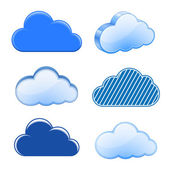 Cloud icon collection — Stock Vector