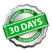 Money back guarantee label — Vettoriale Stock