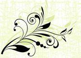 Fundo floral com ramo decorativo — Vetorial Stock