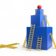 Box with a ladders. The development concept - Stock Photo