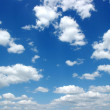 White fluffy clouds - Stockfoto