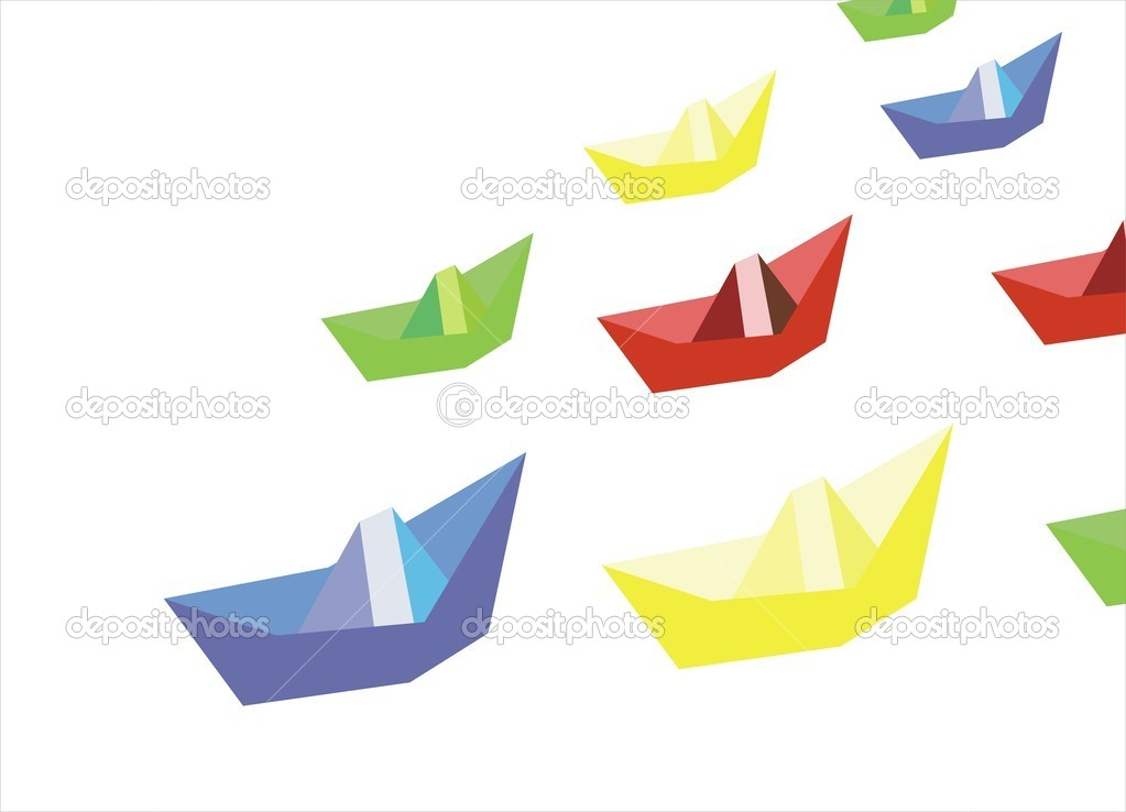 Paper ships  Stock Vector #11329806