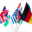 Grouping of various flags of the world — Stock Photo #11642470