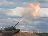 Shoot. Russian main battle tank. — Stock Photo