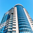 Stock Photo: Modern skyscraper on blue sky background in Samara, Russia