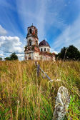 Old deserted church in Novgorod region, Russia — Stock Photo
