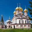 Russian orthodox church. Iversky monastery in Valdai, Russia. — 图库照片