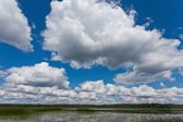 Beautiful landscape with blue sky and clouds. — Stock Photo