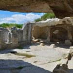 Ancient city of Eski-Kermen — Stock Photo