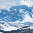 Ski resort Zell am See, Austrian Alps at winter — Stock Photo