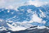 Ski resort Zell am See, Austrian Alps at winter — Stock Photo