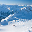 Slopes in Kitzsteinhorn ski resort near Kaprun, Austrian Alps — Stock Photo