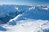 Slopes in Kitzsteinhorn ski resort near Kaprun, Austrian Alps — Стоковое фото
