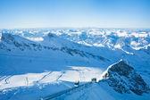Slopes in Kitzsteinhorn ski resort near Kaprun, Austrian Alps — Stock Photo