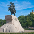 Monument to Peter I in St-Petersburg, Russia — Stock Photo
