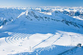 Slopes in Kitzsteinhorn ski resort near Kaprun, Austrian Alps — Foto de Stock