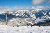 Ski resort Zell am See. Austria — Stock fotografie