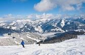 Ski resort zell am bakın. avusturya — Stok fotoğraf