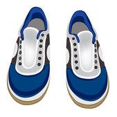 Atheletic ayakkabı beyaz zemin üzerine — Stok Vektör