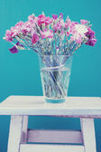 Bunch of flowers in vase, art — Stock Photo