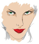 Beauty girl face — Stockvektor
