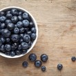 Bowl of blueberries — Stock Photo #11878579