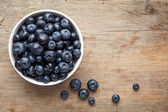 Bowl of blueberries — Foto de Stock
