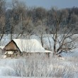 Stock Photo: Old wooden house. Winter.