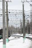 铁路。滑轨. — 图库照片