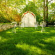 Wedding Arch on the grass — Stock Photo
