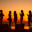 Royalty-Free Stock Photo: Silhouettes of girls
