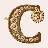 機械的なアルファベット — ストックベクタ
