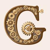 Mechanical alphabet — Stock Vector