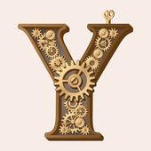 Mekaniska alfabetet — Stockvektor
