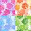Set of seamless floral patterns — Stock Vector #11758249