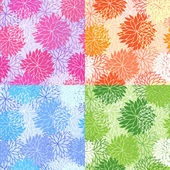 Set of seamless floral patterns — Stock Vector