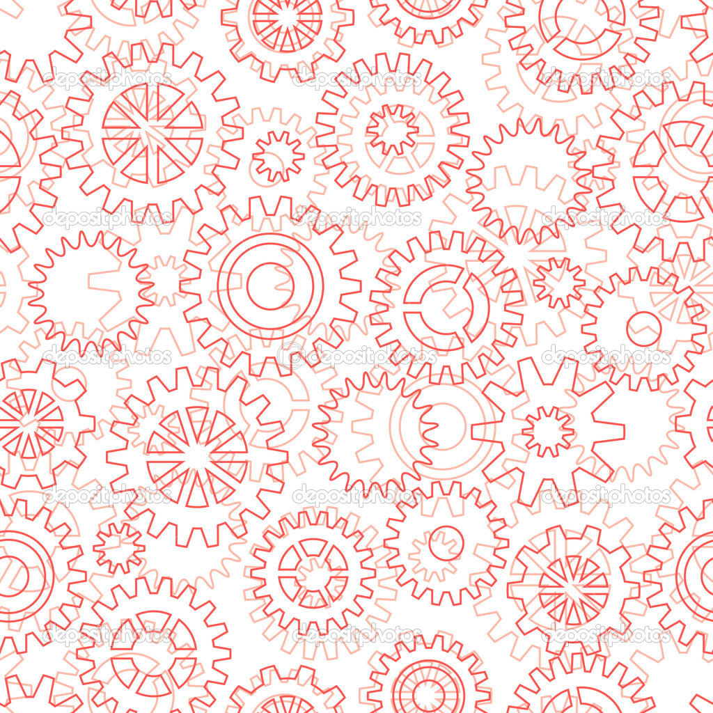 Seamless pattern with mechanical gears and cogwheels. — Stock Vector #11758174
